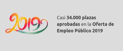 Casi 34.000 plazas aprobadas en la Oferta de Empleo Público 2019